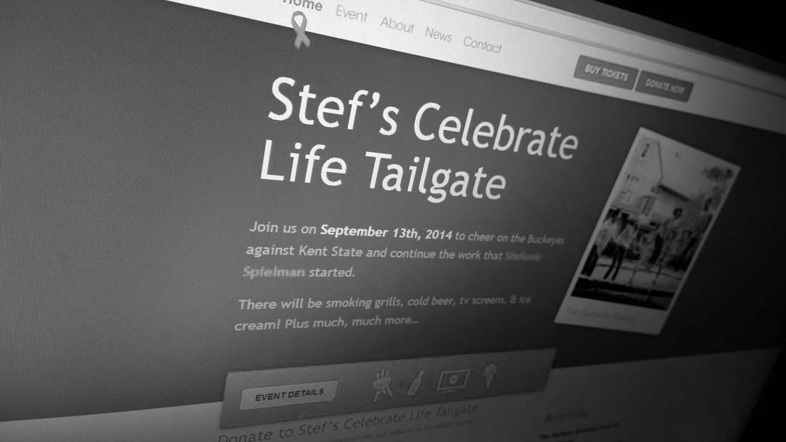 Stef's Celebrate Life Tailgate Website